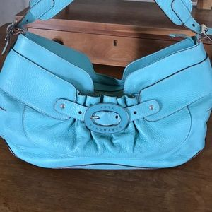 Anya Hindmarch turquoise leather shoulder bag